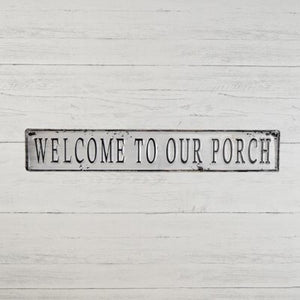 Welcome Porch Tin Sign