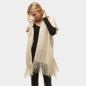 Ivory Fringed Sweater