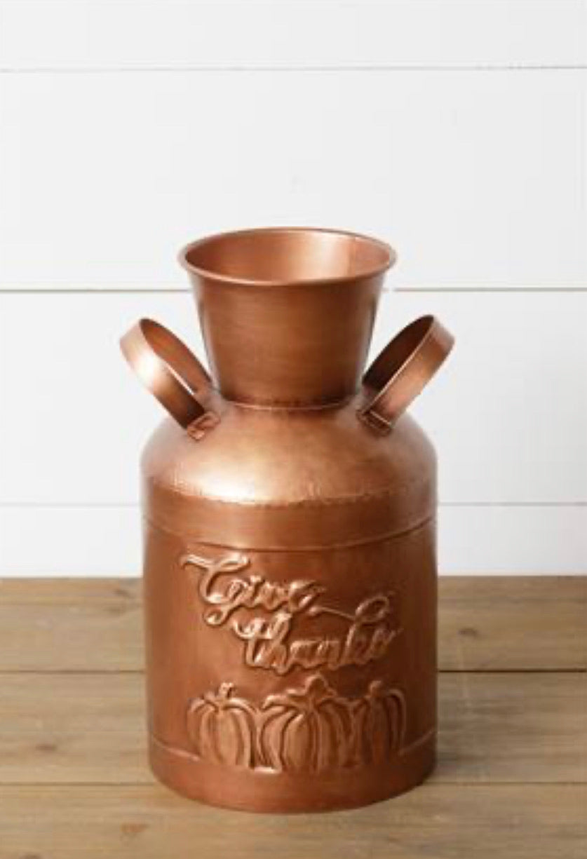 Copper Give Thanks Bucket