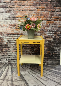 Lisa Vintage Yellow Side Table