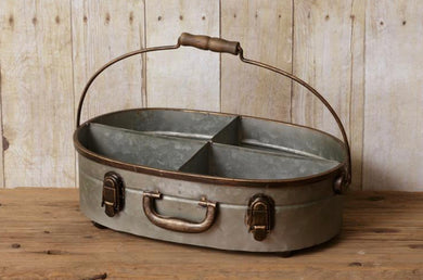 Suitcase Divided Tin With Handle