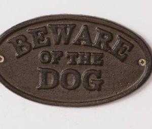 Beware of Dog Medallion
