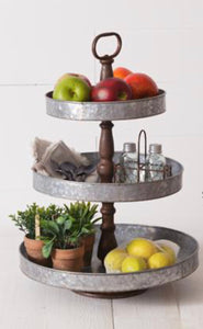 Tiered Stand With Triple Top