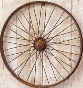 Rustic Metal Wheel