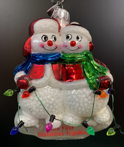 Bronner's Our First Christmas Snow Couple Ornament