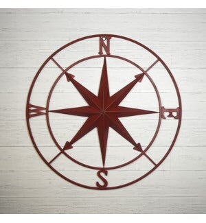 "40"" Large Red Compass"