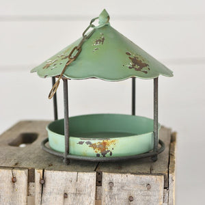OLD TIN BIRD FEEDER