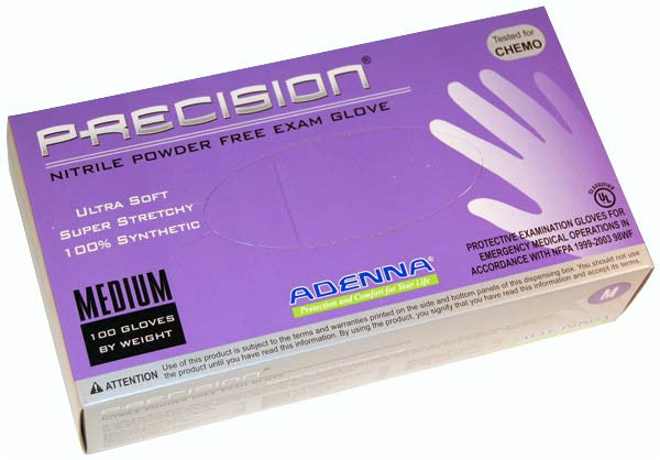Adenna Precision powder-free nitrile violet exam gloves