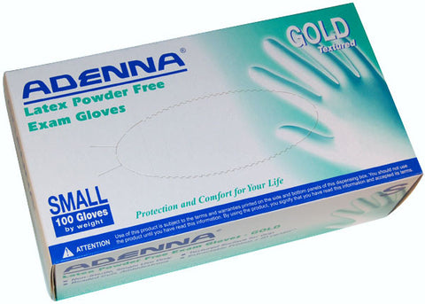 Adenna Gold powder free latex exam gloves