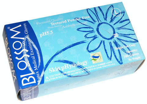 Blossom pH powder-free latex exam gloves