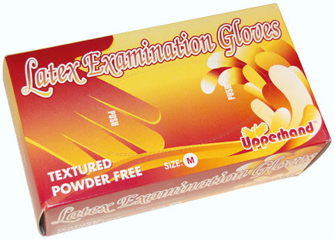 Upperhand Latex Powder Free Exam Gloves