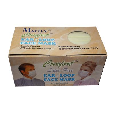 Maytex Yellow Earloop Exam Masks