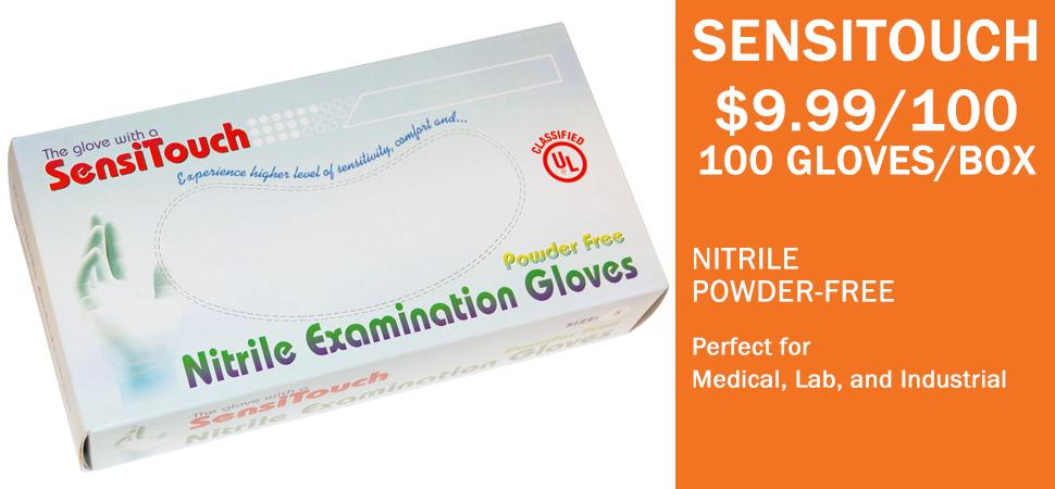 Eurka nitrile exam gloves - 300 gloves per box