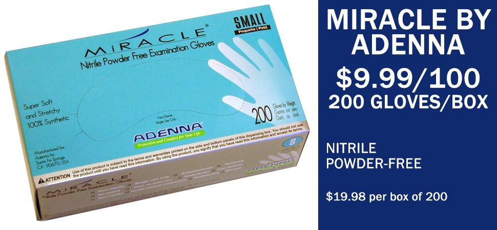Adenna Miracle Gloves - 200 exam gloves per box - superior quality