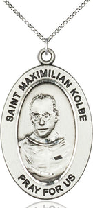 Bliss Manufacturing Oval St Maximilian Kolbe Pendant Necklace w/18in Chain