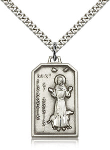 Bliss St Francis of Assisi Catholic Patron Saint for Animals Medal Pendant