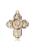 Bliss Athlete Sports Baseball 5-Way Cross Medal Pendant Necklace