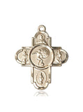 Bliss Athlete Sports Soccer 5-Way Cross Medal Pendant Necklace
