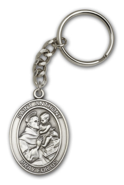 St Anthony Patron Saint of Lost Articles Antique Gold or Silver Medal Keychain by Bliss