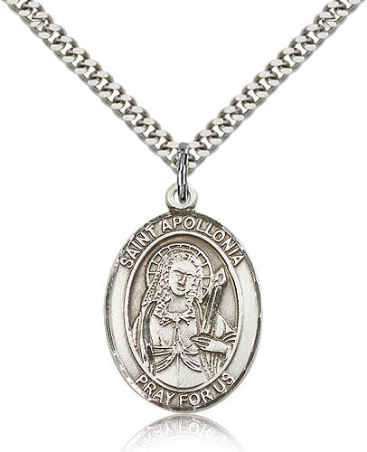St Apollonia Catholic Patron Saint Oval Medal