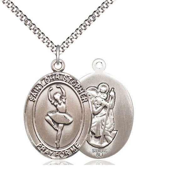 Bliss St Christopher Dance Patron Saint Medal Pendant Necklace