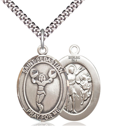 Bliss St Sebastian Cheerleading Patron Saint Medal Pendant Necklace