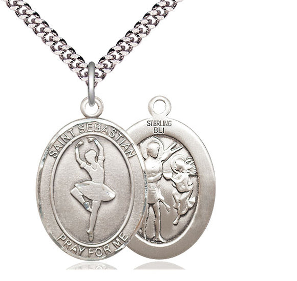 Bliss St Sebastian Dance Patron Saint Medal Pendant Necklace