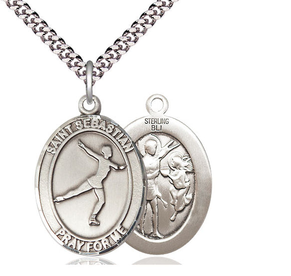 Bliss St Sebastian Figure Skating Patron Saint Medal Pendant Necklace