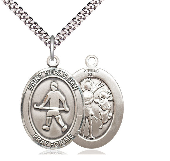 Bliss St Sebastian Field Hockey Patron Saint Medal Pendant Necklace