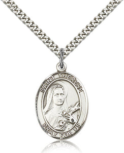 Bliss Manufacturing St Therese of Lisieux Catholic Patron Saint Oval Pendant Necklace