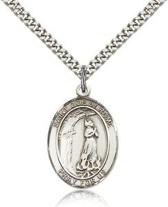 Bliss Manufacturing St Zoe of Rome Catholic Patron Saint Oval Pendant Necklace