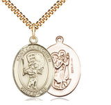 Bliss St Christopher Baseball Patron Saint Medal Pendant Necklace