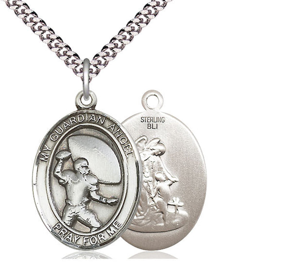 Bliss Guardian Angel Patron Saint Medal Pendant Necklace