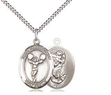 Bliss St Christopher Cheerleading Patron Saint Medal Pendant Necklace