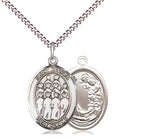 Bliss St Cecilia Choir Music Patron Saint Medal Pendant Necklace