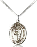 Bliss St Sebastian Archery Patron Saint Medal Pendant Necklace