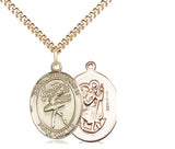 Bliss St Christopher Dance/Dancer Patron Saint Medal Pendant Necklace