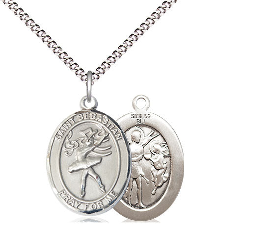 Bliss St Sebastian Dance/Dancer Patron Saint Medal Pendant Necklace