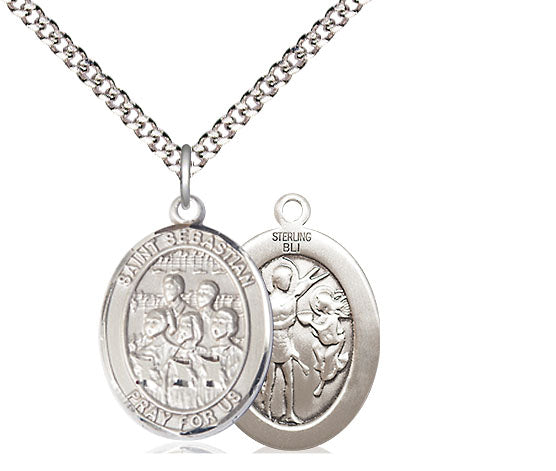 Bliss St Sebastian Choir Music Patron Saint Medal Pendant Necklace