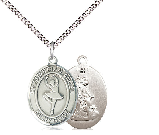 Bliss Guardian Angel Dance Patron Saint Medal Pendant Necklace