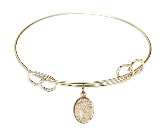 Bliss St Apollonia Patron Saint Loop Charm Bangle Bracelet