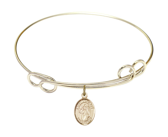 Bliss St Boniface Patron Saint Loop Charm Bangle Bracelet