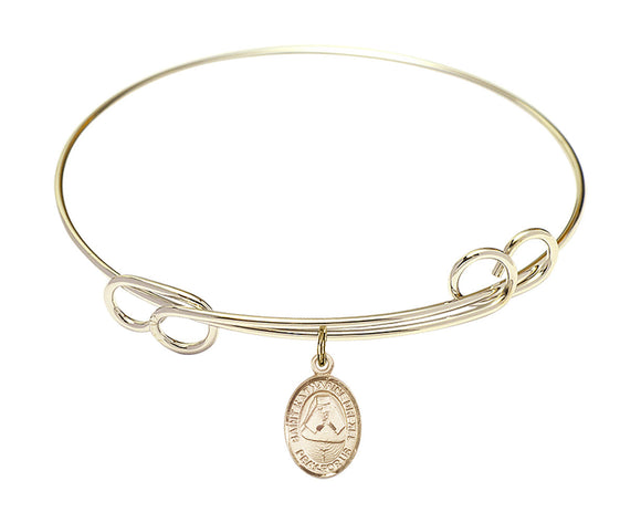 Bliss St Katharine Drexel Patron Saint Loop Charm Bangle Bracelet