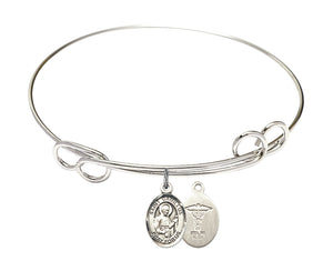 Bliss  St Camillus of Lellis Medical Doctor Symbol Patron Saint Loop Charm Bangle Bracelet