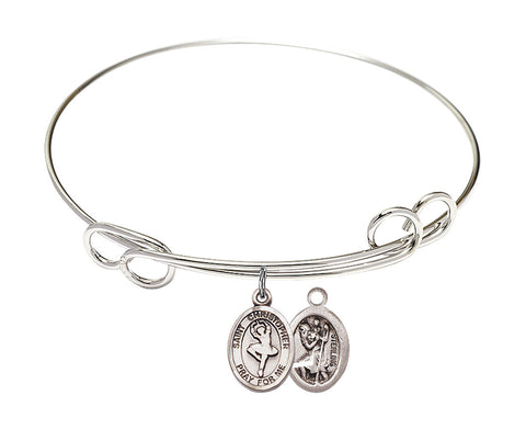 Bliss St Christopher Dance Patron Saint Loop Charm Bangle Bracelet