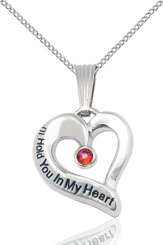 Bliss January Garnet Hold You in My Heart Birthstone Pendant Necklace