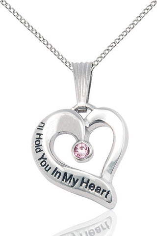 Bliss June Lt Amethyst Hold You in My Heart Birthstone Pendant Necklace