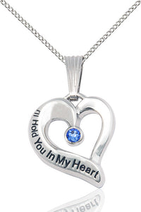 Bliss September Sapphire Hold You in My Heart Birthstone Pendant Necklace