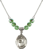 Bliss St Christopher Archery 6mm Birthstone Swarovski Crystal Sterling Necklaces