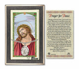 Ecce Homo Pendant and Prayer for Peace Holy Prayer Card Gift Set by Bliss Mgf